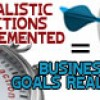 Realistic Actions Implemented = Business Goals Realized